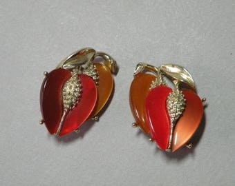 Vintage Listner Fall Leaf Earrings