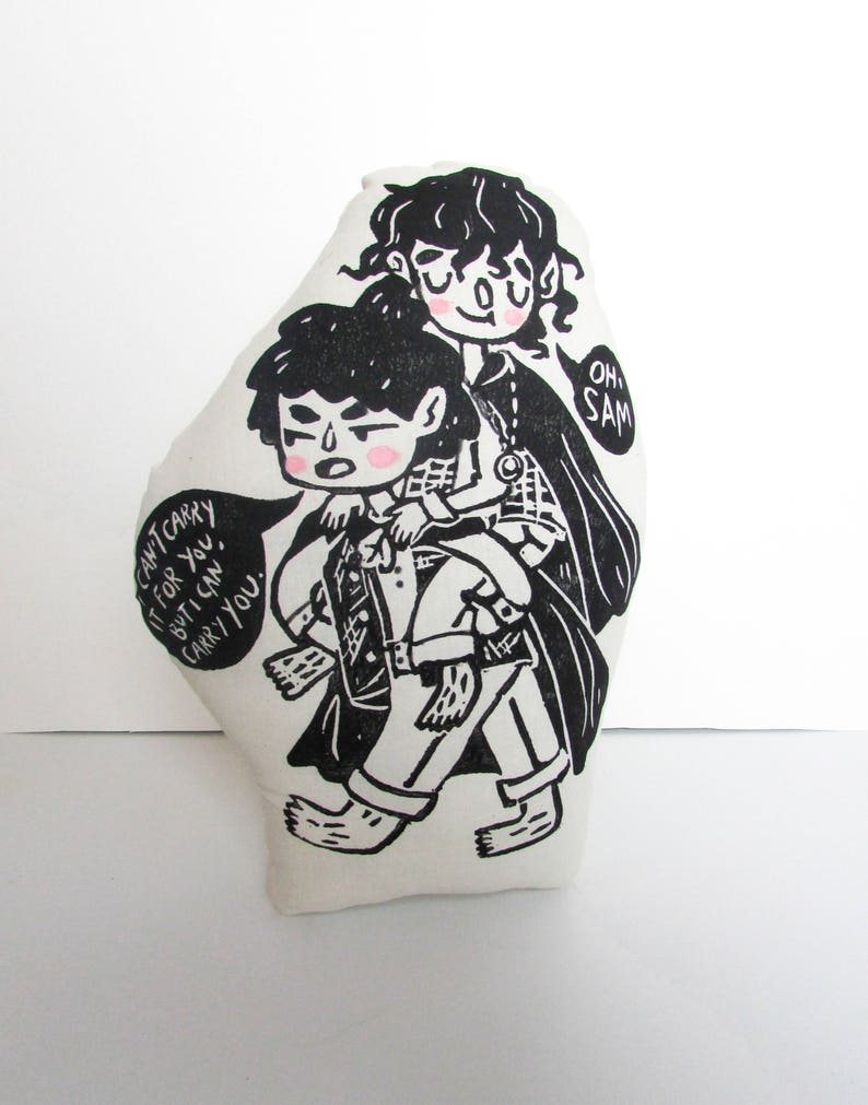 7c0cb20aad51 Frodo Baggins and Samwise Gamgee Plush Pillow. Lord of the