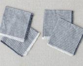 JoJo Fletcher x Etsy, organic cloth napkins, denim stripes, fringe cloth napkins, linen cocktail napkins, natural table linens