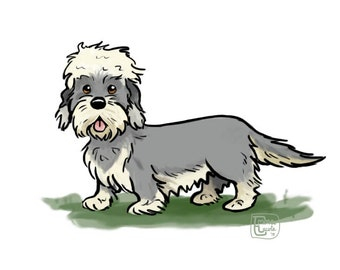 DANDIE DINMONT Property Laws FRIDGE MAGNET New DOG