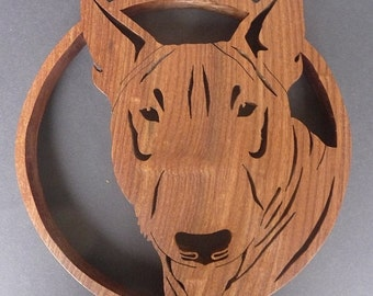 round English Bull Terrier Trivet