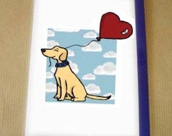 Balloon Hearty card