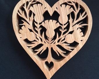 Heart Shaped Thistle Trivet