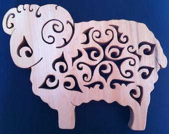 Ram celtic design trivet