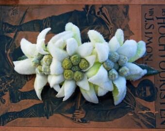 Edelweiss flower etsy original bavarian edelweiss french barreteclip oktoberfest wiesn hair flower mightylinksfo