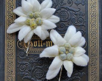 Edelweiss flower etsy original bavarian edelweiss bobby pin oktoberfest wiesn hair flower mightylinksfo