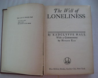 """1928 edition """"The Well of Loneliness"""""""