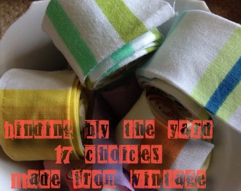 """3 yard cut of 2"""" Quilt BINDING made from reclaimed Vintage fabric"""
