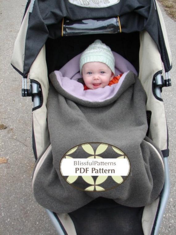 Stroller Or Car Seat Bundle Bag Pdf Sewing Pattern Two Sizes Etsy