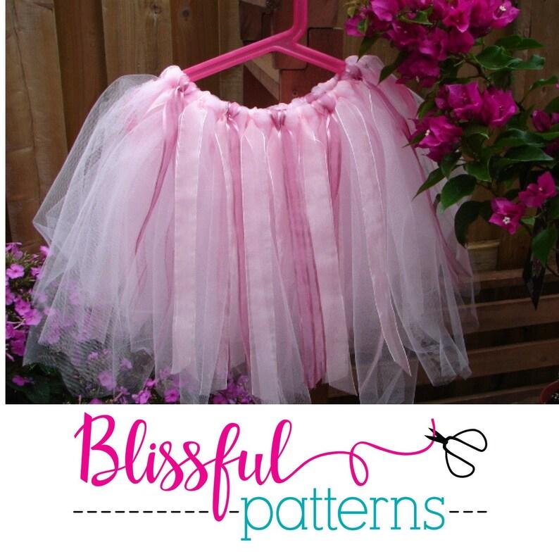66aef9cdd2 No Sew Tutu PDF Tutorial Pattern Ballerina Tulle Skirt | Etsy
