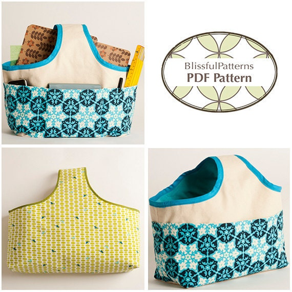 Easy to Sew Fabric Handle Basket PDF Sewing Pattern - two sizes ...