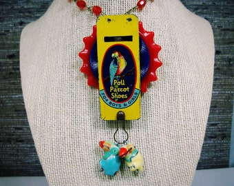 Artisan necklace; Handcrafted jewelry; Toy Whistle necklace; One of a kind necklace; Unique necklace; Tin Whistle necklace; Unique jewelry