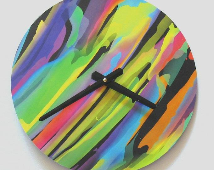 Painting Minimalist clock 12 inch large clock Vinyl clock. Wall art Unique wall clock Art clock