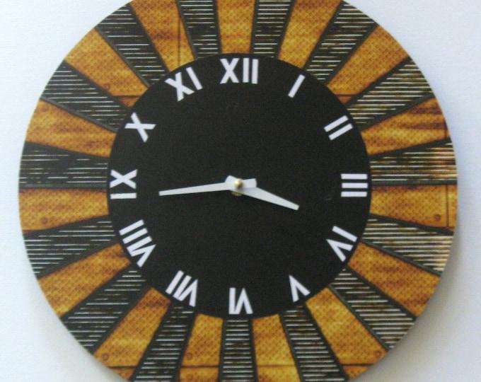 12 inch clock. Art clock Vinyl clock Modern clock Unique wall clock