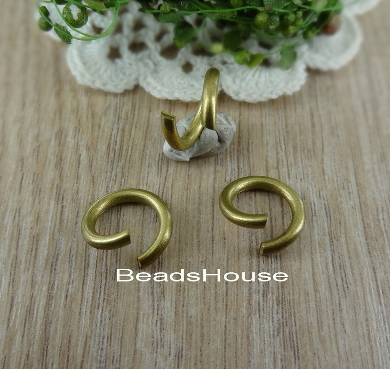 Raw Brass Open Jumpring Round 24 pcs - Jumprings Jewelry Findings 2.0x 10mm
