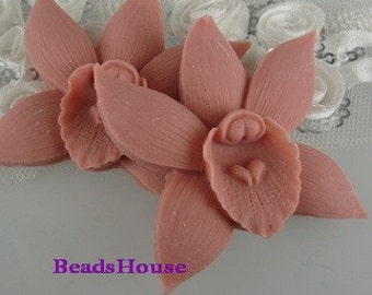 20%off: 662-00-CA  2pcs Pretty Phalaenopsis Cabochon-Dusty Pink