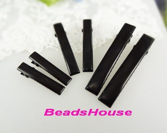 HC-13-BK   12pcs 32mm 45mm, 60mm Hair Clip, Black Coating, Nickel Free