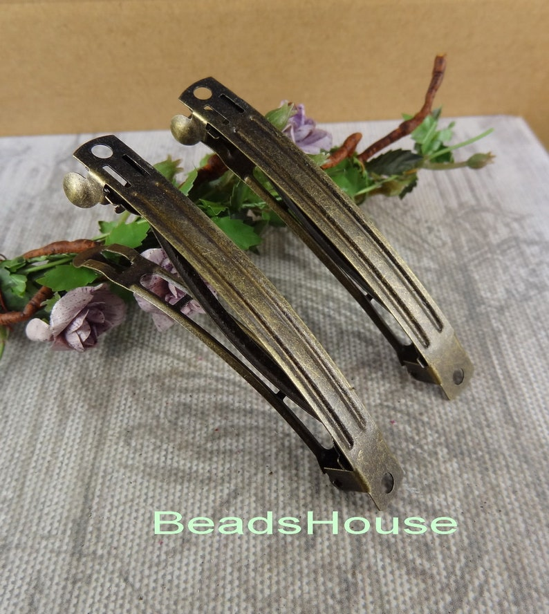 7x 70 mm Antique Bonze Plated Hair Clip,Nickel Free 15pcs