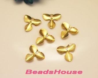 FF-00-02R  8pcs Raw Brass Finding Filigree Charms,NICKEL FREE