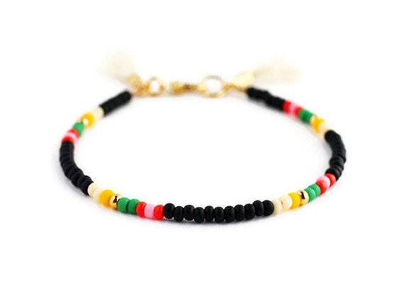 nueva colección 4932c 8964e Negro abalorios pulseras, pulseras amistad, pulseras para mujeres