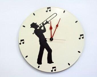 Trombone Wall Clock