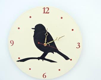 Robbin Clock on Upcycled Record