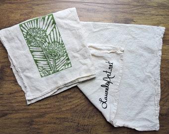 Dandelion Flower Garden Kitchen Tea Towel