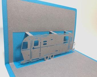 Airstream Camper Pop Up Card