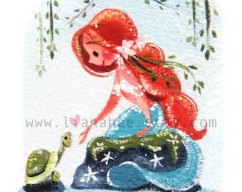 Turtle Talk fine art mini print