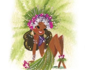 Orchid Tiny Tahitian fine art mini print
