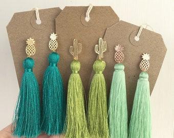 Cactus Tassel Earrings
