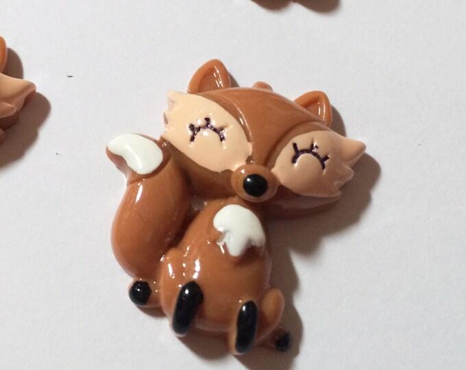 Fox Magnets, set of four, super strong, locker decoration, fridge magnets