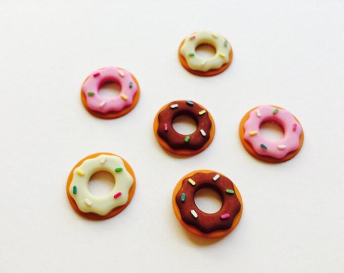 Donut Magnets, Doughnut Magnets, set of six Donuts set of six Doughnuts