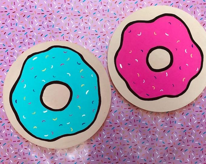 hand painted Donut Wall Decor, Doughnut Wall Decor, Donut decoration,