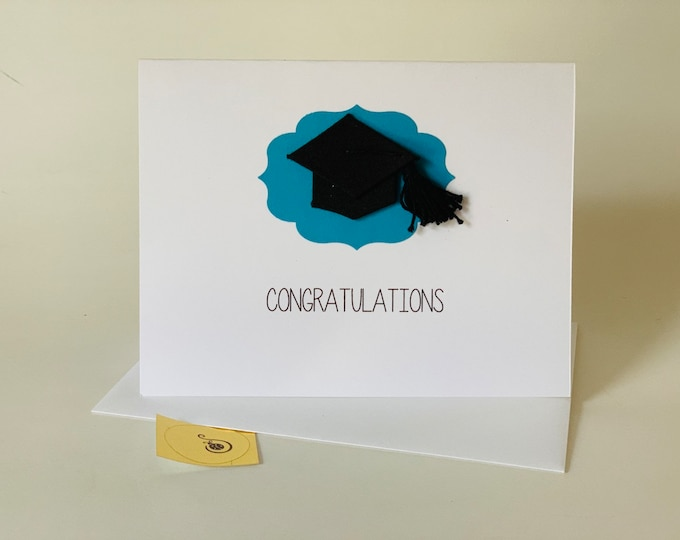 Funny graduation card, Stay Away From Zombies, inappropriate graduation card, funny snarky card, recycled