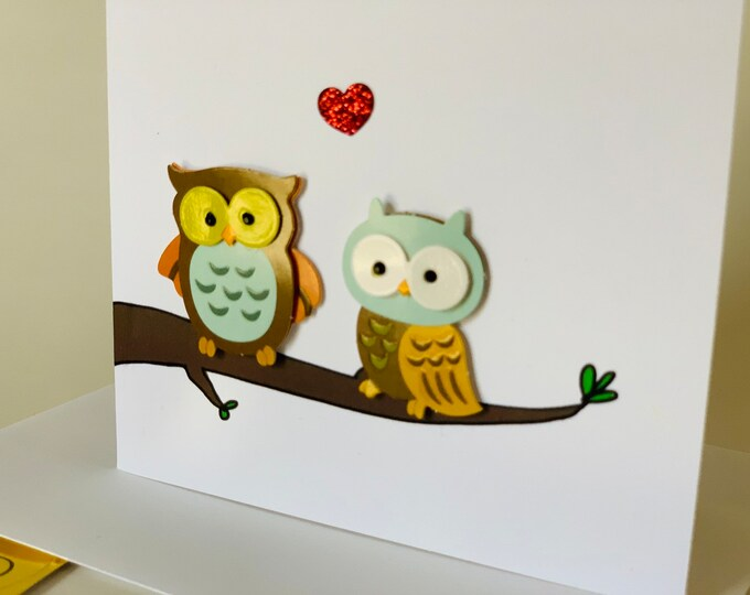Owl always love you, love card, owl card, made on recycled paper, comes with envelope and