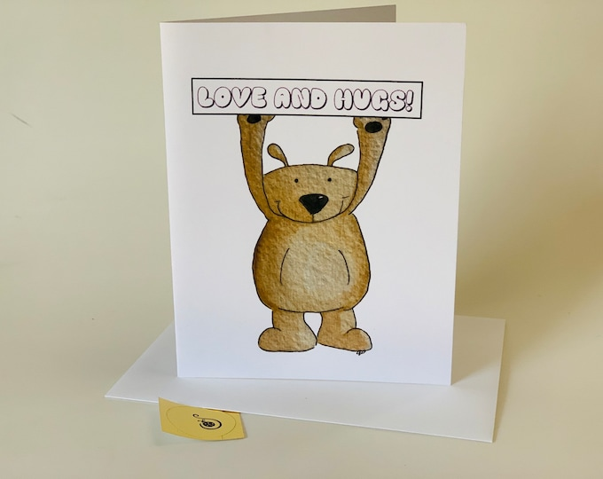 Bear Hugs and Love Valentines Day Card, from the family