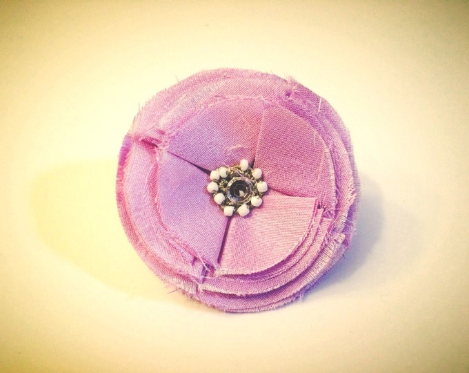 "3"" Lilac Poppy Flower Dog Collar Accessory, for medium to Large breeds dogs, or Wedding dress up"