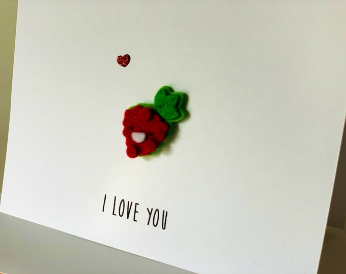 I Love you Berry Much, Pun Love Card, Funny Berry Card, Funny Love card, made on recycled paper, comes with envelope and seal