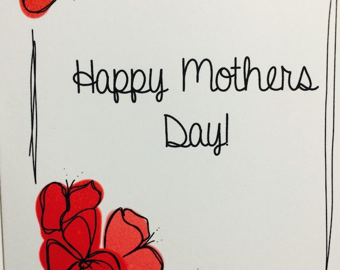 Inappropriate Mothers Day Card, Thanks For Not Using Protection, Funny Snarky, made on recycled paper, comes with envelope and seal