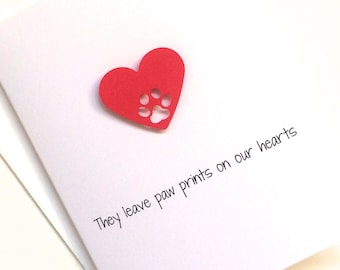 Loss of Dog Sympathy Card, Loss of Cat Sympathy Card, Loss of Pet Sympathy Card, made on recycled paper, comes with envelope and seal