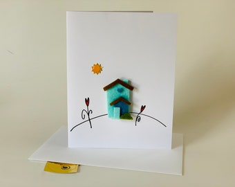 New Home Card, New Neighbor Card, Congratulations on your new home, comes with envelope and seal, made on recycled paper