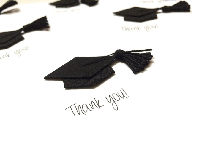 Set of 5 High Quality Graduation Cards, Flat, graduation thank you cards, made on recycled paper, come with envelopes and seals