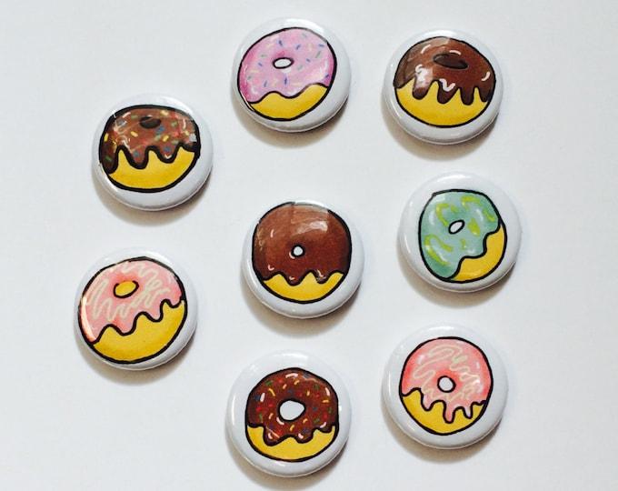 Donut Magnets, Doughnut Magnets, set of eight Donuts set of eight Doughnuts