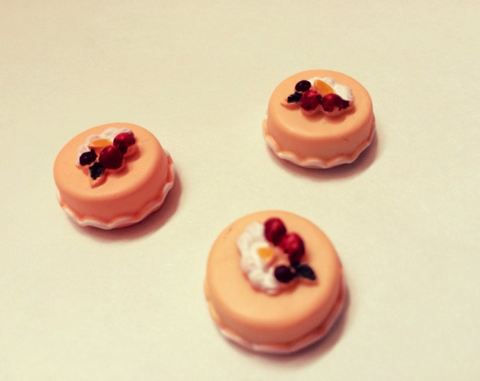 Cake Magnets, Let them Eat Cake, Kawaii Miniature Food super strong magnet set of three, Marie Antoinette Inspired