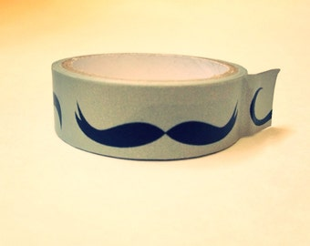 Mustache Washi Tape with 6 mustache styles