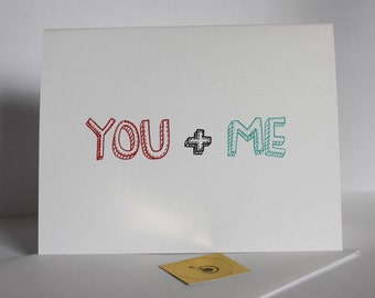 You and Me, We're what Awesomesauce Looks Like Awesome funny humorous snarky anniversary Card Valentines day card