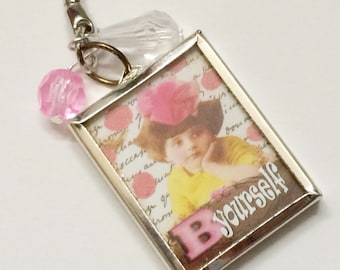 Be Yourself keychain for tern, The Spirit Is The True Self, Collage Style Keychain, for teenager, Inspirational