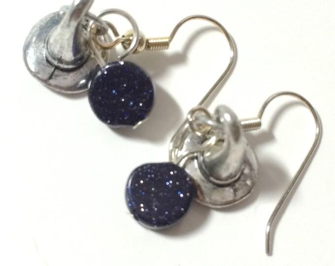 Witch Earrings, Witch Hat Earrings, Silver Colored Witch Hat Halloween Hook Earrings, Halloween Earrings