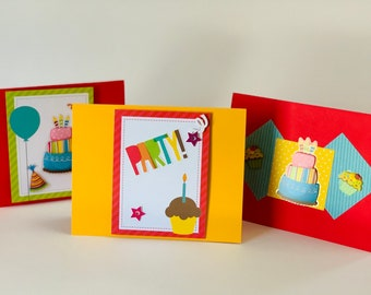 Colorful Birthday Card Set, Birthday Card Pack, comes with envelopes and seals